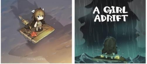 A girl adrift cover | photo via Google Play