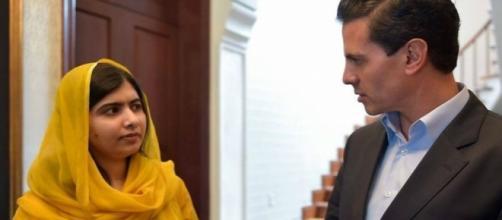 Durante su visita a México, Malala se reunió con el presidente Enrique Peña Nieto para hablar sobre educación.