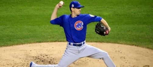 Hendricks in action, Wikipedia https://en.wikipedia.org/wiki/Kyle_Hendricks#/media/File:Kyle_Hendricks_first_inning_Game_7_2016_World_Series.jpg