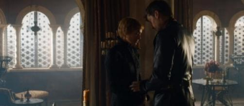 "Jaime touches Cersei's belly in a scene from ""Game of Thrones"" Season 7 episode 5. (Photo:YouTube/AresPromo)"