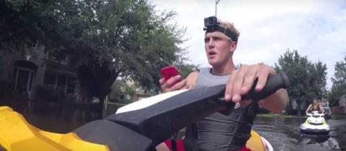 Jake Paul rescues Hurricane Harvey victims in new vlog. (YouTube/Jake Paul)