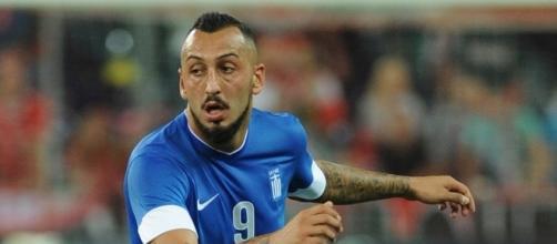 Mitroglou sous le maillot de la sélection nationale grecque