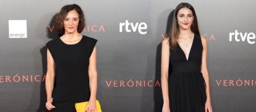 Sandra-Escacena-y-Ana-Torrent,-actrices-principales-'Verónica'