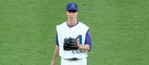 Zack Greinke struck out six batters and allowed the Dodgers just one run in six innings for Arizona's 8-1 win. [Image via MLB/YouTube]