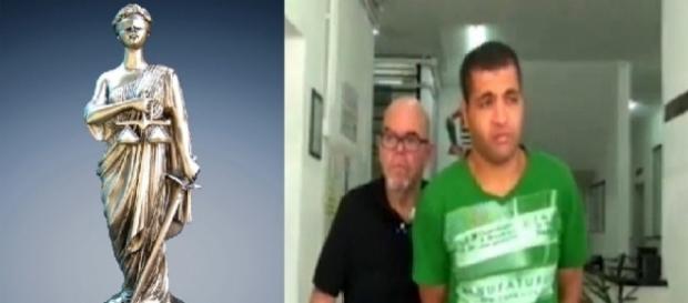 Diego de Novais, preso em flagrante após ejacular em passageira e estátua 'cega' da Justiça
