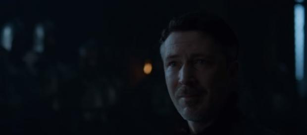 """Littlefinger begs for his life in """"Game of Thrones"""" Season 7 finale. (Photo:YouTube/Kristina R)"""