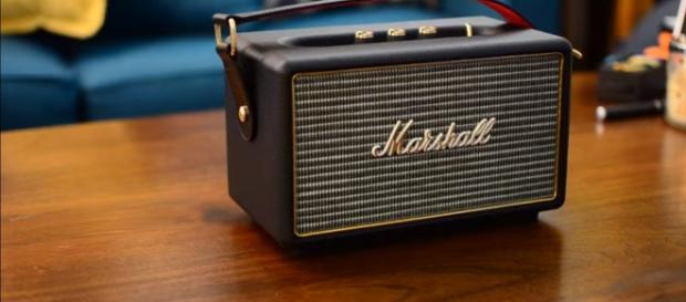 Marshall Stanmore is a small and portable version of the bluetooth speaker. (via AndrewOHara/Youtube)