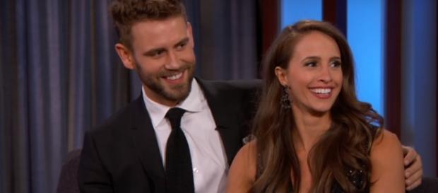 Nick Viall and Vanessa Grimaldi called their engagement off. (YouTube/Jimmy Kimmel Live)