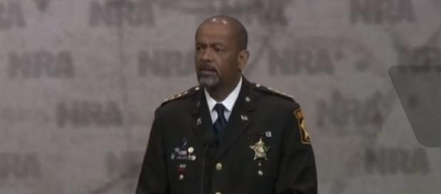 "PRO-TRUMP Milwaukee County Sheriff David ""COON"" Clarke Has RESIGNED [Image via Youtube: Hezakya Newz & Music]"