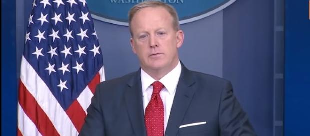 Sean Spicer says last words to the White House staff. - Image Credit:YouTube/Time
