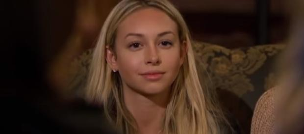"Corinne Olympios finally broke her silence on the Tuesday's episode of ""Bachelor in Paradise.""[Image via Nicki Swift/YouTube]"