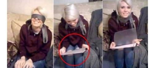 A namorada infiel teve uma bela surpresa (Fotos: Captura de vídeo)