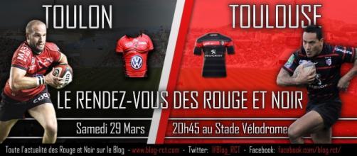 Affiche match entre Toulon et Toulouse / Le Blog des supporters du RCT