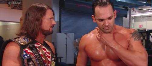 AJ Styles is giving Tye Dillinger another chance at the United States Championship on 'SmackDown Live.' [Image via WWE/YouTube]