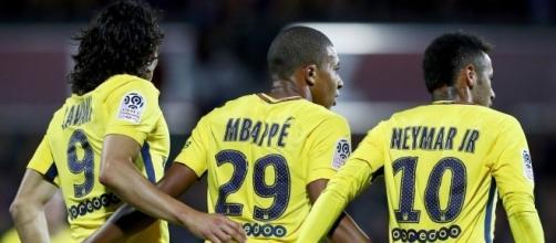 Le fameux trio parisien face au FC Metz ce vendredi (1-5) / si.com