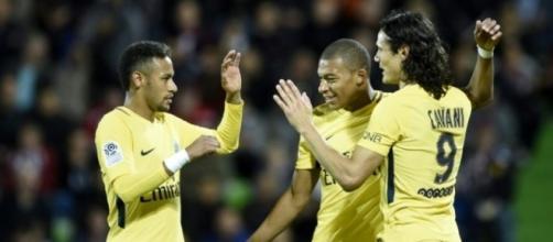 Le trio MCN constitué de Mbappé, Cavani et Neymar
