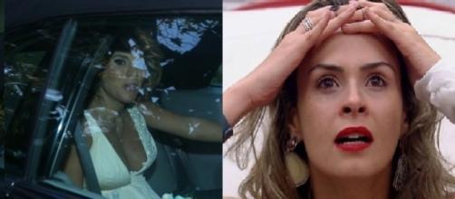 Olha ela... Ana Paula Renault socorre Maíra Charken de hotel precário em plena lua de mel.