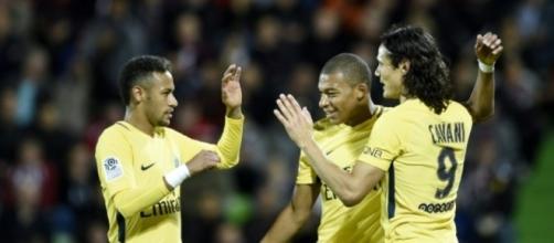 Paris SG, débuts en fanfare pour la triplette Mbappé-Cavani-Neymar ... - liberation.fr