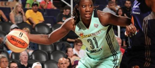 Tina Charles and the Liberty host the Mystics in the second round of the WNBA Playoffs on Sunday. [Image via WNBA/YouTube]