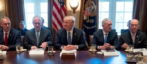 Trump met with his Cabinet on Irma re: Google Advanced Images