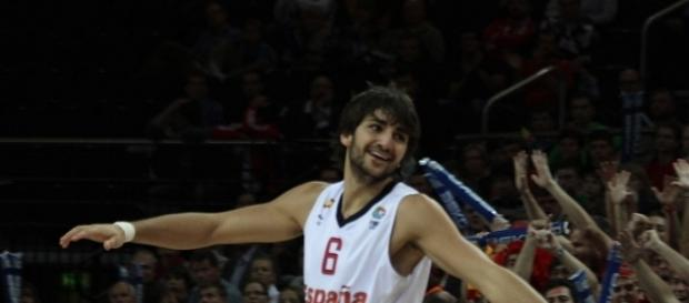 The x-factor for Spain heading into the match will be Ricky Rubio. [Image via Wikimedia Commons]
