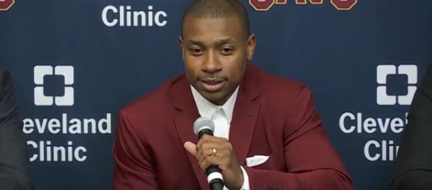 Isaiah Thomas during the Cavaliers' recent press conference (via YouTube - Ximo Pierto)