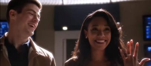 """Barry and Iris will tie the knot in season 4 of """"The Flash."""" [Image via YouTube/Furious Clips]"""