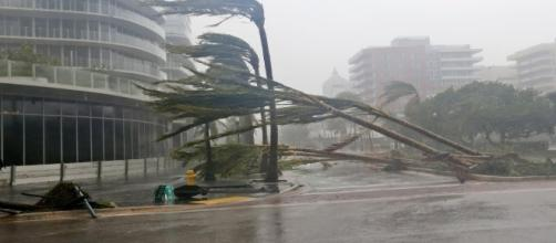 Hurricane Irma lashes Florida after making two landfalls this Sunday. / from 'YouTube' screen grab
