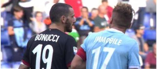 Lazio-Milan, Bonucci si scaglia contro Immobile