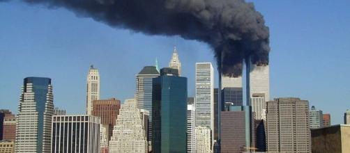 World Trade Center on 9/11 (Michael Foran wikimedia commons)