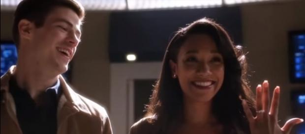"Barry and Iris will tie the knot in season 4 of ""The Flash."" [Image via YouTube/Furious Clips]"