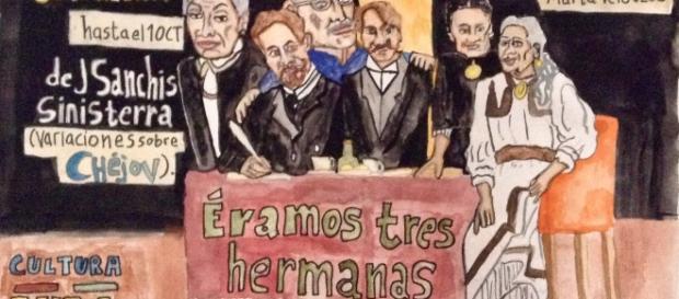 """""""Éramos tres hermanas"""", corta temporada en el Teatro de La Orientación."""