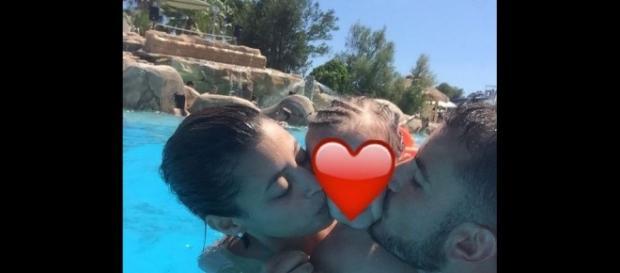 Jonathan des Anges 9, sa fille et sa femme Racha - Instagram, 2017