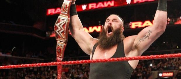 "On ""Raw,"" Braun Strowman will look to continue to build momentum towards his Universal title match at ""No Mercy."" [Image via WWE/YouTube]"