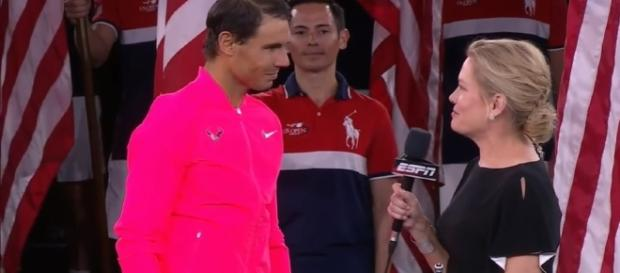 Rafael Nadal on court Interview After 3-rd US Open Title Image - E Latifovich | YouTube