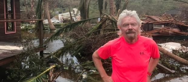 Sir Richard Branson is currently in Puerto Rico initiating efforts for relief and recovery. Image Source: Richard Branson/Twitter