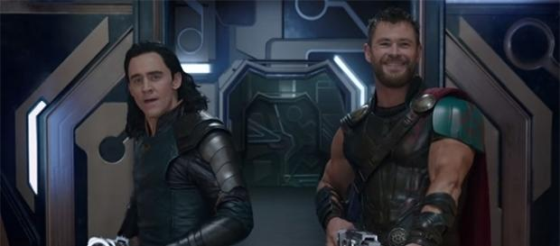 """Tom Hiddleston and Chris Hemsworth return to reprise their roles as Loki and Thor in """"Thor: Ragnarok"""" later this year. (YouTube/Marvel)"""