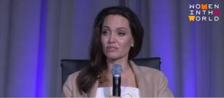 Angelina Jolie photographed at this year's TIFF - YouTube/Women In The World