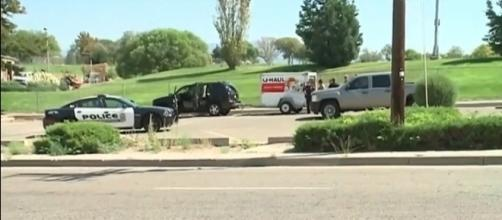A trailer containing the body of a deceased relative was stolen from a hotel parking lot in Albuquerque [Image: YouTube/KOCO 5 News]