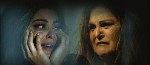 Bibi e Aurora em cena de novela