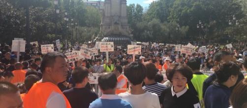 Concentración en Madrid en pro de la seguridad y del rechazo del asesinato