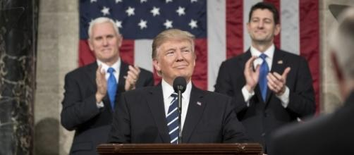 Donald Trump delivering a speech, Image Credit: The White House / Flickr