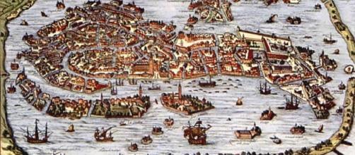 Mapa de la ciudad-estado de Venecia.
