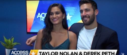 Taylor Nolan and Derek Peth reveal plans after 'Bachelor in Paradise' engagement. (YouTube/Access Hollywood)