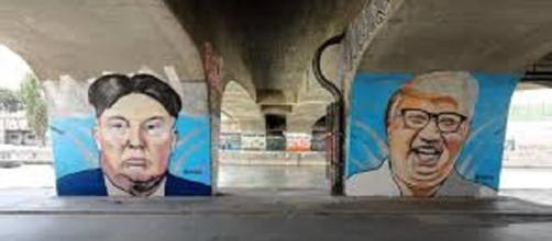 Unpredictable leaders? Image -wikimedia commons Wien Donald-Trump un Kim-Jong-un-Graffiti /vonLushSux