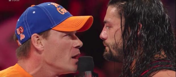 John Cena and Roman Reigns appeared on the latest episode of WWE 'Raw' from Anaheim, California. [Image via WWE/YouTube]