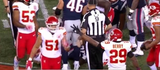 The Chiefs defense shined against the Patriots in Week 1 [Image via NFL/YouTube]