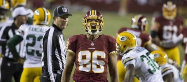 Washington Redskins Jordan Reed's improved timing may improve offense | Image Credit: Keith Allison | Wikimedia Commons