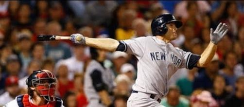 Brett Gardner had two RBIs in the Yankees' 3-2 win over Tampa Bay on Wednesday. [Image via MLB/YouTube]