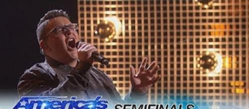 """Christian Guardino was among the singers who poured heart and soul into """"America's Got Talent"""" semi-final performances. Screencap AGT/YouTube"""